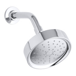 Kohler - Kohler Purist Polished Chrome Single Function Shower Head with Katalyst Spray - The Purist traditionally styled shower head from Kohler utilizes Katalyst air induction technology to deliver an invigorating spray experience while saving up to 20-percent water consumption.