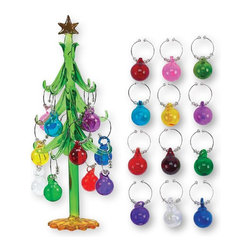 Boston Warehouse - Boston Warehouse Holiday Ornament Wine Charm Tree Set - 60810 - Shop for Holiday Ornaments and Decor from Hayneedle.com! About Boston WarehouseFounded in 1974 Boston Warehouse began as a distributor of fine European imports to U.S. retailers. By 1980 the company was creating their own products in-house. Through innovative designs and meeting consumers ever evolving tastes and needs Boston Warehouse is now widely known for their presence in retail markets and for creating all sorts of charming resin and earthenware home goods.