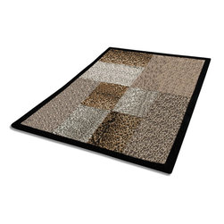 """Blancho Bedding - Onitiva - [Hug Sunlights] Patchwork Throw Blanket (61""""-86.6"""") - This animal skin patchwork throw blanket measures 61 by 86.6 inches. Comfort, warmth and stylish designs."""