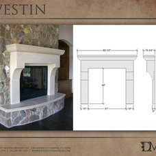 Eclectic Indoor Fireplaces by Distinctive Mantel Designs, Inc