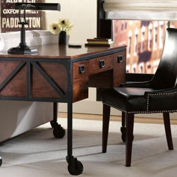 Industrial Empire Desk - Here's a nice desk with an industrial look.