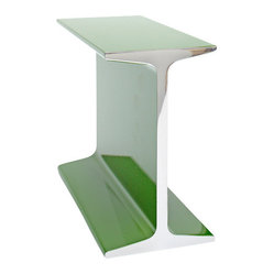 SUPREME-BEAM - Supreme Beam Bookends, Green - SUPREME-BEAM transforms the qualities of an I-beam into a light-hearted decorative object. The SUPREME BEAM can be used as a bookend, paperweight or as an all around good-looking frill in a mirror-polished solid aluminum in 7 stylish colors