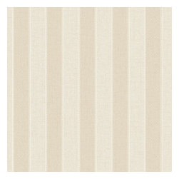 Graham & Brown - Ticking Stripe Wallpaper - A classic striped wallpaper in sandstone incorporates our classic Aaron texture. The small scale of this stripe gives it a very traditional feel but can equally be used in a more contemporary setting.