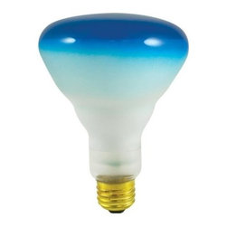 Bulbrite - Dimmable Reflector Bulbs in Blue - 12 Bulbs - One pack of 12 Bulbs. 120V E26 base incandescent BR30 bulb type. Perfect for commercial, recessed, display and track lighting applications. Colored glass used to prevent scratching and fading. Wattage: 75 watt. Average hours: 2000. Equivalency: 75 watt. Color rendering index: 100. 35 degrees beam spread. Minimum overall length: 5.13 in.Bulbrite's line of colored halogen reflectors add a festive touch to any application.