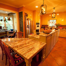 Eclectic Kitchen by Sigmon Construction
