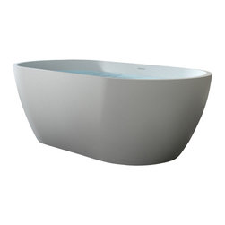 Badeloft - Badeloft - UPC Certified - Stone Resin, Freestanding Bathtub, Matte, Large - UPC Certified -