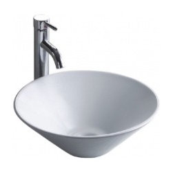 "Asian Style Bathroom - Wells CSA1616-6W China Luxe Collection Simplex Above Counter 15.75"" Round Lavatory Sink: White"