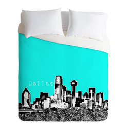 DENY Designs - Bird Ave Dallas Aqua Duvet Cover - Turn your basic, boring down comforter into the super stylish focal point of your bedroom. Our Luxe Duvet is made from a heavy-weight luxurious woven polyester with a 50% cotton/50% polyester cream bottom. It also includes a hidden zipper with interior corner ties to secure your comforter. it's comfy, fade-resistant, and custom printed for each and every customer.