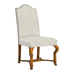 Kathy Kuo Home - Crawford French Country Camel Back Dining Side Chair - Warning: Once your dinner guests sit in these chairs, they may never