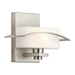 Kichler - Kichler Suspension 1-Light Brushed Nickel Wall Light - 45315NI - This 1-Light Wall Light is part of the Suspension Collection and has a Brushed Nickel Finish.