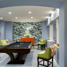 Contemporary Family Room by Liz Caan Interiors LLC