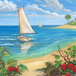 Murals Your Way - Plantation Key Sailboat Wall Art - Painted by Paul  Brent, the Plantation Key Sailboat wall mural from Murals Your Way will add a distinctive touch to any room