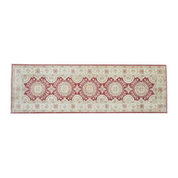 Peshawar Area Rug Runner, Hand Knotted Stone Wash 3'X10' 100% Wool Rug SH9082 - Hand Knotted Oushak & Peshawar Rugs are highly demanded by interior designers.  They are known for their soft & subtle appearance.  They are composed of 100% hand spun wool as well as natural & vegetable dyes. The whole color concept of these rugs is earth tones.