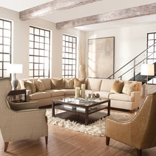 Transitional Sectional Sofas by Huntington House Furniture