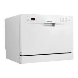 Danby - 6 Place Setting Countertop Dishwasher, White - Features: