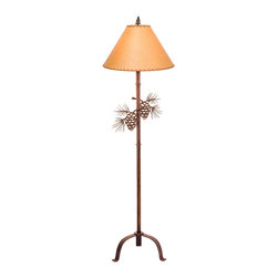 Steel Partners Inc - Floor Lamp - PINECONE - Every piece we create is unique — handcrafted at our factory in Chehalis, Washington, USA. Due to this, lead times are 2 to 4 weeks.
