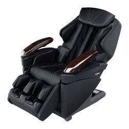 """Panasonic EPMA70 Full 3D Body Massage Chair Recliner w/ 3 Year Warranty - EP-MA70KX -from Panasonic!3D Massage Mechanism & Air Massage Technology; featuring 3 All-Massage & Stretching Techniques and Heated Massage Heads 1313a! Heated Massage Heads -Realistic massage therapist techniques combined with the healing relaxing of heat. Its like warm hands of a professional masseuse that loosen tense, sore muscles, relieving tension and stimulating increased blood flood. The Roller heads are from made from a durable ceramic with distributes the heat. Hand & Arm Massage -Gently kneads from above and below relaxing the hand and arm and relieving tension. Moving Armrest -Adjusts automatically to massage both arm and hand - even when lying down. 1313bHip & Thigh Massage -Airbags around the waist and thighs relax the trunk and lower back. Buttocks, Pelvis & Thigh Stretching - ! Massage for the Pelvis -3 airbags under the seat and thighs relax you by gently stretching Foot Massage -3D air cushions surrounding the feet gently squeeze for a realistic foot massage experience. Shoulder Massage -Gently stimulates your lymphatic system to help cleanse the body. ! Massage for the Shoulders -Airbags hold the shoulders in place as the massage heads knead the back, from the shoulders to the chest.Airbags on both sides hold the pelvic area in place as the massage heads knead the lower back. 1313cCalf Massage -Airbags gently knead both sides of the calves, loosening and increasing circulation. ! Massage for the Legs -Airbags inflate to hold the sides of the thighs, calves and soles of the feet. The legrest rises to stretch the leg muscles while the back is gently kneaded. Leg Massager Extension -The MA70 is equipped to adjust according to the user's leg length. Chairwill fit heights ranging from 5'0"""" to 6'0"""". Results may vary depending on leg length. ly Designed Advanced Remote -The MA70 remote has been redesigned for easier use and more compact to fit in the palm of a hand. Converting the """