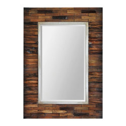 "Ren Wil - Ren Wil MT1436 Pretoria 30"" Rectangle Beveled Wooden Frame Wall Mounted Mirror - Features:"
