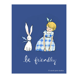 """Sarah Jane - Be Friendly, Multiple, 8x10"""" - Be Friendly touches at the childhood innocence and friendliness to all animals."""