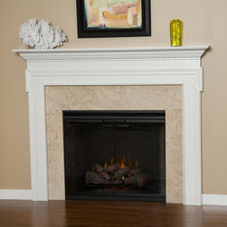 Sierra Wood Fireplace Mantel - The crisp, clean lines of the Sierra Wood Fireplace Mantel would fit perfectly into a modern home's geometric patterns.