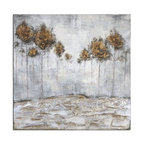 """Uttermost - Uttermost 31304 Iced Trees 48""""W x 48""""H Impressionist Painting - Features:"""
