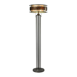 Z-Lite - Z-Lite Milan 3 Light Floor Lamp X-LF05-61Z - The Oak Park family finished in Java Bronze offers clean lines with simple, geometric forms to show true craftsman's styling. This 3 Light Floor Lamp is finished in Java bronze paired with White and Amber Micca.
