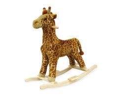 Trademark Global - Plush Giraffe Rocking Animal w Wood Frame - Giraffe rocker. Ages: 2 yrs & up. Weight Limit: 80lbs.. Seat Height: 19 in.. 30.5 in. L x 14.25 in. W x 30 in. H