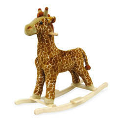 Trademark Global - Plush Giraffe Rocking Animal w Wood Frame - Giraffe rocker. Ages: 2 yrs & up. Weight Limit: 80lbs.. Seat Height: 19 in.. 30.5 in. L x 14.25 in. W x 30 in. H