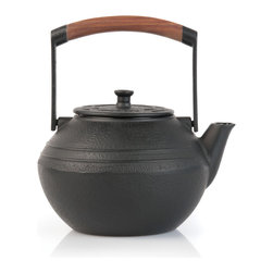 Berghoff - Berghoff Neo Cast Iron Teapot 1.3-Quart - Traditional looking teapot with a modern twist. Made of solid cast iron with the great benefit of even distribution of heat throughout the complete pot allowing better extraction of flavours. Fully enameled inside with stainless steel filter basket for the tea leaves. Cast Iron teapots keep tea longer hot than regular porcelain or glass teapots.