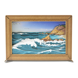 Cardboard Safari - Reliéve Scenic Frame, Ocean - If you wish to add another window to your space our framed perspective scenes will provide a fresh view.