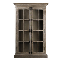 Parisian Oak Display Cabinet