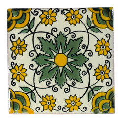 Olive Tree Talavera Tiles, Box of 15