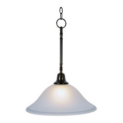 Premier - One Light 15 inch Pendant Fixture - Oil Rubbed Bronze - AF Lighting 617285 15in. W by 20in. H Sonoma Decorative Vanity Fixtures, 1 Light Pendant Down light, Oil Rubbed Bronze.