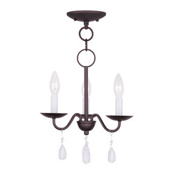 Livex Lighting - Mercer Mini 1 Tier Chandelier With 3 Lights - Livex Lighting currently offers over 2,500 products ranging from lighting fixtures for indoor and outdoor applications to lampshades, chandelier shades, ceiling medallions and accent furniture. The goal of Livex Lighting is to provide the highest quality product at the most affordable price.