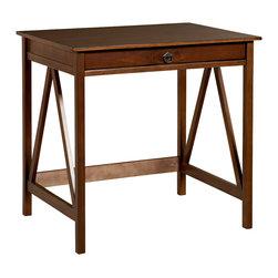 """Linon - Titian Laptop Desk - Dimensions: 30"""" H x 31.5"""" W x 24.02"""" D"""