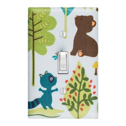 Blue Woodland Trails Light Switch Plate Cover - The little touches can add a lot of charm. It's so easy to change out a switch plate, so why not have a cute one?