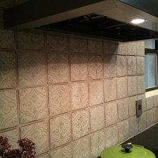 Transitional Kitchen by DESIGN TILE