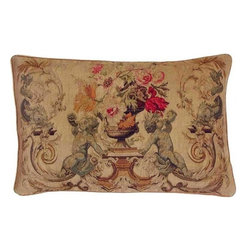 EuroLux Home - New Aubusson Throw Pillow Boys Blue - Product Details