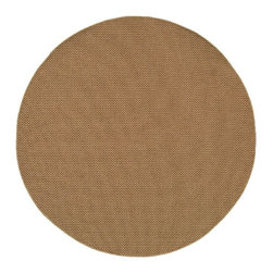 """Oriental Weavers - Indoor/Outdoor Karavia Round 7'10"""" Round Sand Area Rug - The Karavia area rug Collection offers an affordable assortment of Indoor/Outdoor stylings. Karavia features a blend of natural Sand color. Machine Made of Polypropylene the Karavia Collection is an intriguing compliment to any decor."""