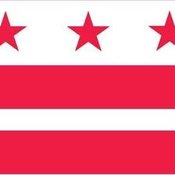 District of Columbia Flag 3x5 Nylon - Outdoor Nylon US State Flag U.S. Flag Store's District of Columbia Flag is printed in America on Nylon flag fabric. Since this flag is made in America, U.S. Flag Store is able to ensure that the complex State emblems are printed with accuracy, sharp detail and bright colors. This outdoor District of Columbia State Flag is finished with the same high quality materials as all of U.S. Flag Store's US flags, and is extremely durable and long lasting.