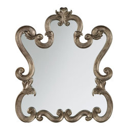 "Hooker Furniture - Hooker Furniture Rhapsody Mirror - The groundbreaking Rhapsody collection brings together classic design elements, grand scale, and a relaxed rustic finish to create an impassioned marriage of casual opulence. Resin. Dimensions: 36""W x 2.75""D x 42.25""H."