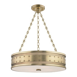 Hudson Valley Lighting - Hudson Valley Lighting 2222-AGB Gaines Aged Brass Pendant - Hudson Valley Lighting 2222-AGB Gaines Aged Brass Pendant
