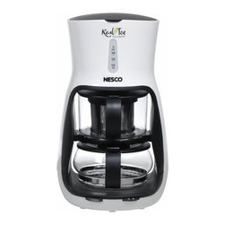 Nesco - Nesco Real Hot Tea Maker Multicolor - TM-1 - Shop for Tea Makers from Hayneedle.com! No matter your brew the Nesco Real Hot Tea Maker is right for you. Whether you like your leaves loose or bagged this tea maker will brew it up just the way you like. And it's convenient too. The cordless design makes it easy to use anywhere. About Nesco First debuting in the 1930's in Milwaukee Wisconsin Nesco made a name for itself with the Nesco Roaster. Electricity had just made its way to Wisconsin and when a couple engineers started experimenting the idea of the portable oven was born. Nesco eventually joined efforts with the utility company going from farm to farm throughout Wisconsin selling not only electric service but the new Nesco Roaster Oven as well. The product went through several upgrades and revisions over the years eventually being sold throughout the United States and Canada. Since then Nesco has moved on to other small kitchen appliances like food dehydrators meat grinders and slicers.