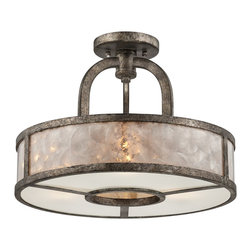 Quoizel - Quoizel QZ-QF1398SMM Semi-flush Mount Ceiling Light - Quoizel fixtures come in a variety of styles, finishes and materials to suit any home decor.  Choose from fabric, metal or even one of our Quoizel Naturals shades, with bamboo, onyx or agate stone, to name a few.  Look to our fixtures to add the finishing touch to your home�۪s style.