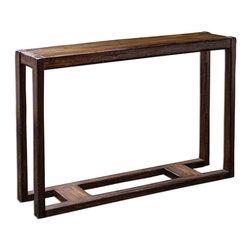 "Uttermost - Wood Deni 52""W Mango Wood Console Table - Wood Deni 52""W Mango Wood Console Table"
