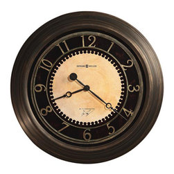 """HOWARD MILLER - Howard Miller Chadwick 25 1/2"""" Gallery Wall Clock - This 25-1/2"""" diameter gallery clock is finished in antique brushed brass."""
