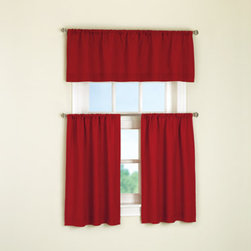 Mainstays Microfiber Valance, Red Sedona - These valances are simple, bright and easy to maintain — the perfect frame for a playroom window.