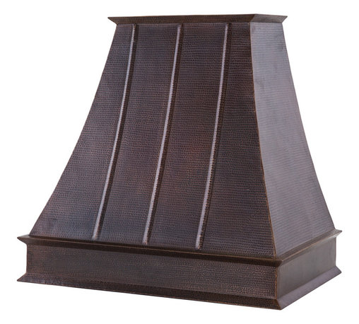 "Premier Copper Products - Premier Copper Products 38"" 1065 CFM Copper Euro Range Hood w/ Baffle Filters - Premier Copper Products HV-EURO38-C2036BP1-TW-B 38"" 1065 CFM Hand Hammered Copper Wall Mounted Euro Range Hood with Baffle Filters"