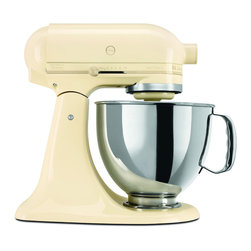 KitchenAid - KitchenAid RRK150AC Almond Cream 5-quart  Artisan Tilt-Head Stand Mixer (Refurbi - This Artisan Series KitchenAid stand mixer features a 5-quart stainless steel bowl with a handle. Unique mixing action,a 325-watt motor and 10 speeds highlight this mixer.