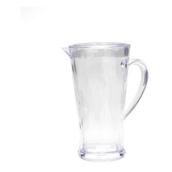 Q Squared NYC - 78oz Clear Pitcher with Lid Madison Bloom - Pitcher this! Classic style and easy care combine in this pitcher, a perfect piece for casual entertaining at your place, indoors or out. It's lightweight, holds 78 ounces and features a handy lid.